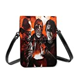 XCNGG bolso del teléfono Michael Myers Halloween Small Cell Phone Purse,Storage Bag, Mobile Phone Bag, Portable Shoulder Bag