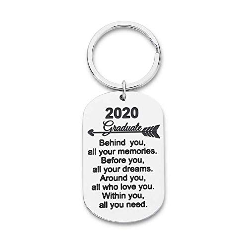 WANM Keychain Graduation Gifts For Him Her Inspirational Gifts For Women Men Girls Boys Daughter Son Graduates From Dad Mom Alloy pendant