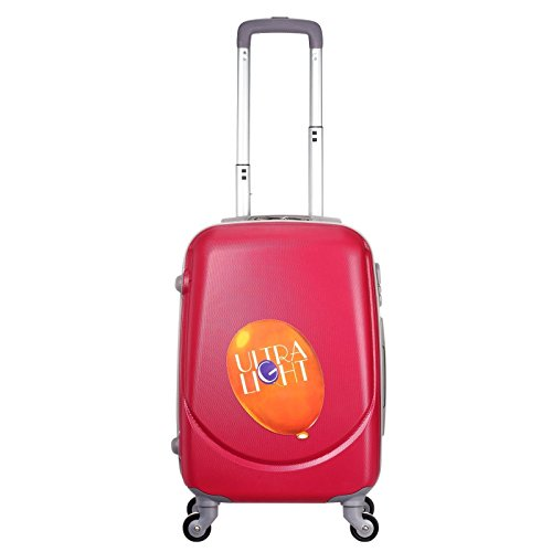 Light Weight 4 Wheel Suitcase 55x35x20 | Iata Approved Hand Luggage Cabin Bag | for Kids, Commuters (Red)