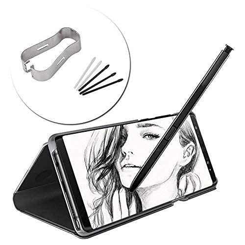 DealMux Stylus S herramienta de recarga de punta de lápiz para Galaxy Note8 / 9, marco de montaje + 5 puntas de lápiz, para tableta Tab S3 T820 T825 / S4 T830 T835 s (negro)