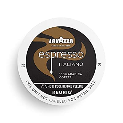 Lavazza Perfetto Single-Serve Coffee K-Cups for Keurig Brewer, Espresso Italiano, 32 Count (Pack of 1)