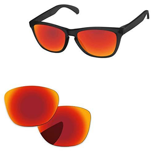 sunglasses restorer Kompatibel Ersatzlgläser für Oakley Frogskins, Polarisierte Fire Iridium