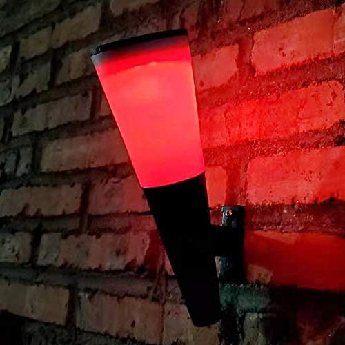 YBright 1 unids al aire libre Solar Step Lights ABS Lámpara de ánimo impermeable Iluminación externa Lámpara de pared Lámpara de pared de jardín LED Lámpara de escalera de esquina con atardecer a Dawn