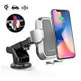 Qi Wireless Fast Charger Car Mount Automatic, Air Vent Phone Holder for iPhone Xs MAX/XR/XS/X/8/8 Plus Samsung Galaxy S9/8/7/Note 8/9 and All Qi-Enabled Phones
