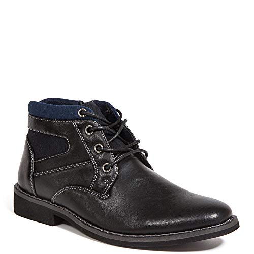 Deer Stags Boy's Chukka Boot, Black, 2 Little Kid