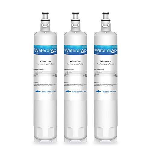 Waterdrop 847200 Gefrier-Kühlschrank Wasserfilter Ersatz kompatibel mit Fisher & Paykel 847200; RS9120W Activesmart Integrated; RF605QDUVX1; RF522ADUX5; RF610, RF605Q, RS9120, RF522, RS90A, RS36 (3)