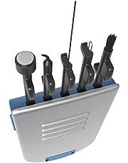 Ezy Dose 5-in-1 Hoortoestel Reinigingsgereedschap, kleine kit voor thuis of op reis, voor eenvoudige, dagelijkse reiniging