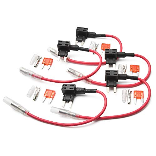 品番FS2 ミニ平型 ヒューズ電源取り出し配線 5個 12V24V兼用 10A ヒューズ付き