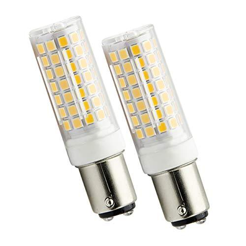 ZIBEI B15D 6W LED Leuchtmittel Ersatz 75W B15D Halogenlampe, 690 Lumen,360°Abstrahlwinkel,Warmweiß 3000K,Dimmbar (2-Pack) [Energieklasse A++]