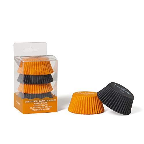 Decora 0339645 Paquet 75 CAISSETTES Orange ET Noir 50 X 32 MM, Paper, 30 x 5 x 3,2 cm