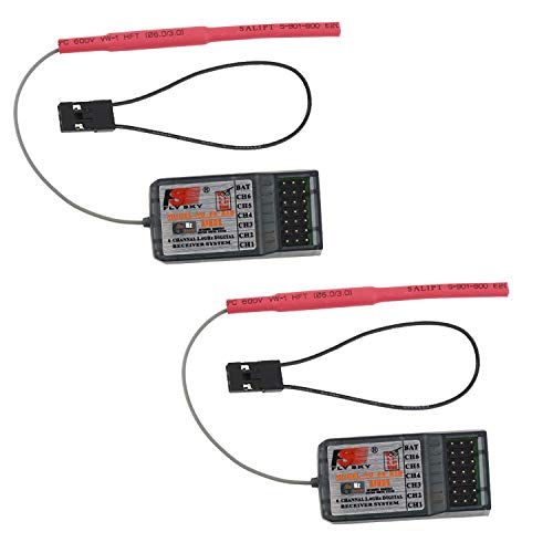 2PCS Flysky FS-R6B 2.4GHz 6CH Receiver for FS-i10 FS-i6 FS-T6 FS-CT6 FS-GT2