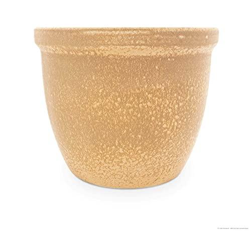 Jardinière pot de fleurs/fleurs/venus iI, 22 x 18 cm-sable en grès de grès (céramique de qualité)