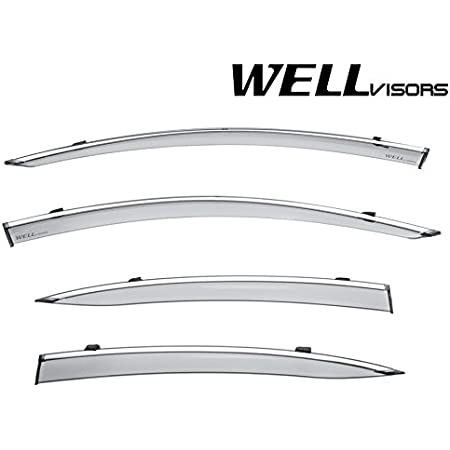 Open Box WellVisors For 13-UP Acura ILX CHROME TRIM Side Vents Window Visors