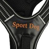 Verstellbar Generisches No-Pull Gepolsterte Hundegeschirre Einstellbare Reflektierende Nylon-Welpen-Sicherheitsweste Für Kleine, Mittelgroße Hunde Pitbull Xs-L, Rot, L Brustumfang 54-60 cm