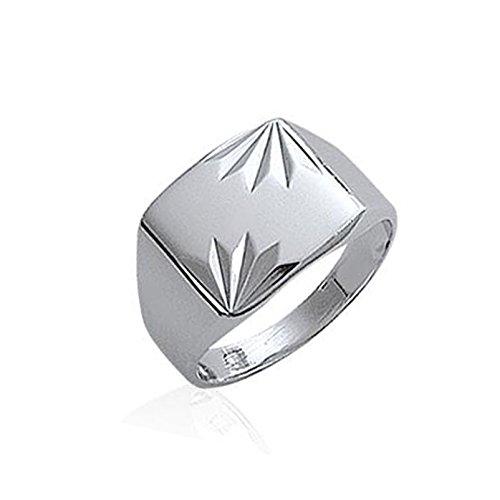 Lolita-Bling heren-zegelring, sterling zilver 925, maat 68, ref. LB-A0A9B00
