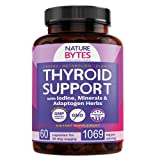 Thyroid Support for Women and Men with Iodine - Fast Absorption Supplement with Ashwagandha, Vitamin B12, Selenium & Adaptogens for Focus, Natural Energy, Metabolism
