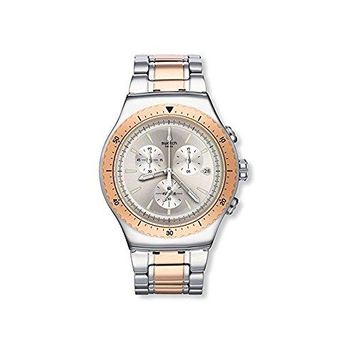 Swatch Reloj Digital para Hombre de Cuarzo con Correa en Acero Inoxidable YOS452G