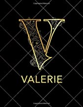 Valerie: Notebook Journal with Gold Monogram Initial Letter V and Name