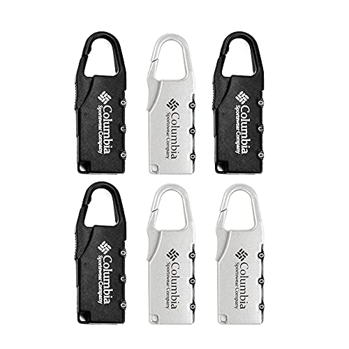 Aibada Paquete de 6 candados de viaje con combinación de código de bloqueo para puertas de gimnasio, deportes, equipaje, escuela