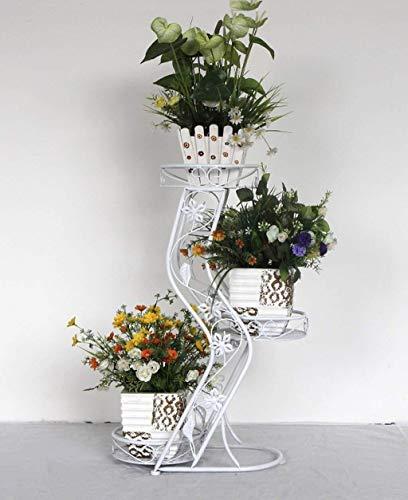 HongLianRiven bloemenvaas balkon bonsai retro woonkamer bloempot bloempot bloemen plaatsing ijzer grootte 50 * 26 * 68 cm 12-3