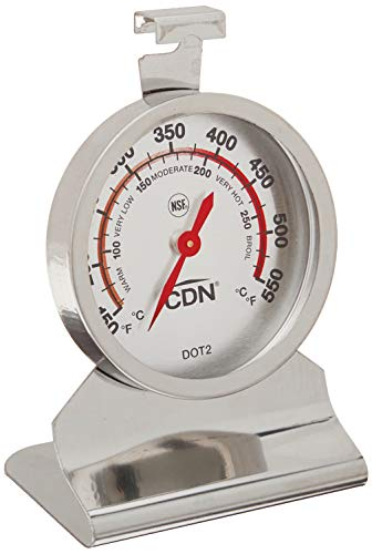 CDN DOT2 09502000954 ProAccurate Oven Thermometer, 1 EA, Silver
