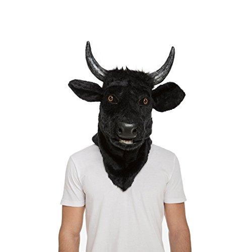 My Other Me Me-204681 Máscara con mandíbula móvil toro, Talla única (Viving Costumes 204681)
