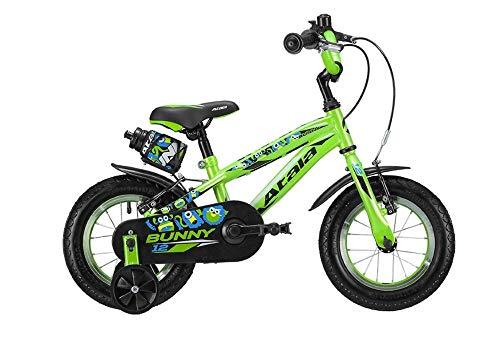 Atala Bicicletta da Bambino Bunny Boy Modello 2019, Colore Verde-Nero, 1 velocità
