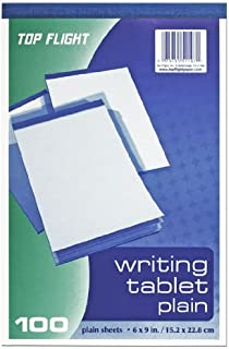 Top Flight Writing Tablet, Unruled, White, 100 Sheets (4701024)