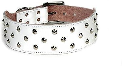 Dogue Stud Muffin Leather Dog Collar, White