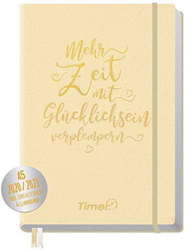 Chäff-Timer Premium Kalender 2020/2021 A5 [Champagner] Terminplaner 18 Monate: Juli 20 - Dez. 21 | Terminkalender, Wochenplaner, Wochenkalender, Organizer mit Gummiband und Einstecktasche