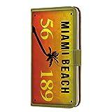 Galaxy A20 (SC-02M・SCV46) PU手帳型 カードタイプ スマホケース [ナンバー・マイアミ MIAMI]……