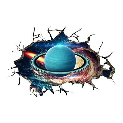 YWLINK Personalidad Espacio De La Pared Rota Planeta Vinilo