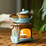 ExclusiveLane Studio Pottery Ceramic Home Fragrances Humidifiers Cum Scented Oil Breezy Aroma...