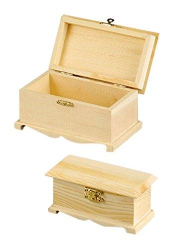 efco Holztruhen, Holz, Braun, 16x9x8,5 cm