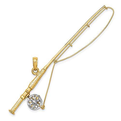 Angelrute 14 Karat Gold Rhodium 3-D Fliegenrute