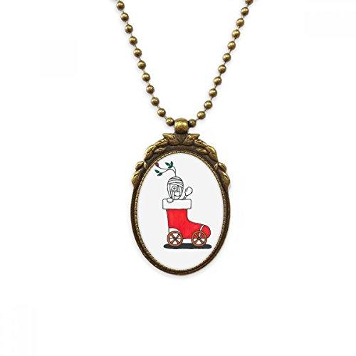 DIYthinker Horus Kerstmis Slee Blad Bloem Antieke Messing Ketting Vintage Hanger Sieraden Deluxe Gift