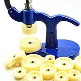 Lawei Uhr Presse Einpresswerkzeug Gehäuseschließ Uhr Reparatur Werkzeug mit 12 Druckplatten Kunststoffeinsätze, 18 mm - 50 mm