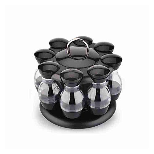 GLADMIN 360 Conjunto de condimento Giratorio Juego de Especias Jarra de Almacenamiento Caja de Almacenamiento HomeKitchen Cruet Rack 8 / 16pcs Sello Jar Jar Coffee Sugar Condiment Contenedor