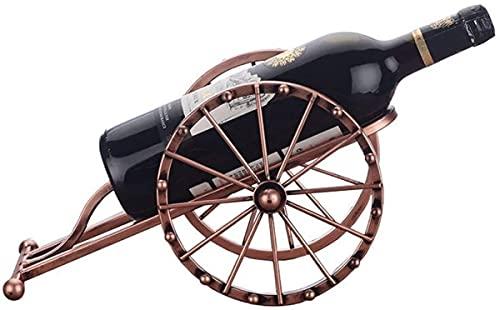 CLQ Soporte De Botella De Vino Modelo De Arte De Hierro Antiguo Estante De Vino En Miniatura De Metal Decorativo Adorno De Artesanía Decoración