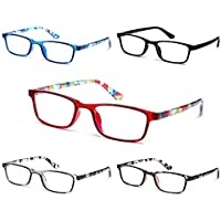 5-Pack K Kenzhou Store Spring Hinge Reading Glasses