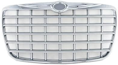 CarPartsDepot, Chrome Grille Frame Silver Inner Insert Plastic Sedan 4-Dr, 400-161175 CH1200275 4805926AC