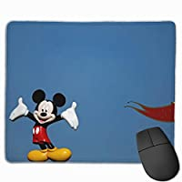 青い背景のミッキーマウス マウスパッド ゲーミング オフィス最適 高級感 おしゃれ耐久性が良 付着力が強い30x25x0.3cm