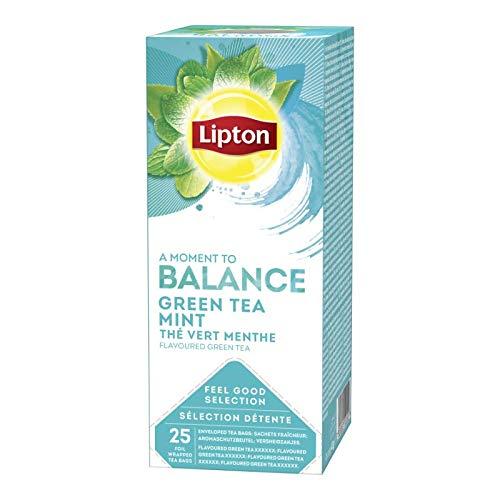 Lipton Wohlfühlen Auswahl grüner Tee Minze 25 Beutel   6x   Gesamtgewicht 195 gr
