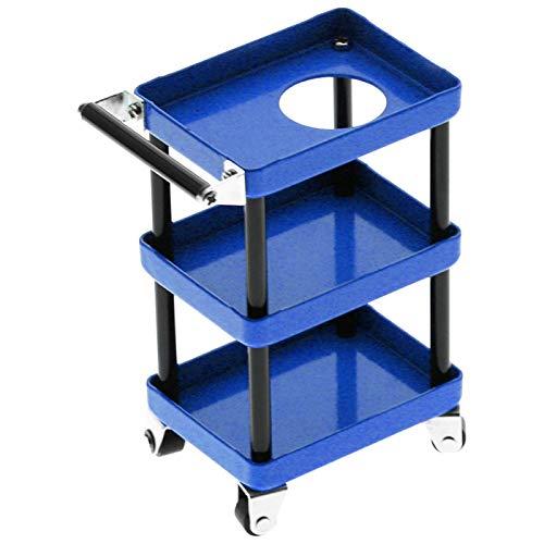 frenma Estante de Herramientas de Coche RC, Carro de Coche RC de Metal práctico de 3 Capas, Estante de Almacenamiento pequeño Apto para 1/8 1/10 1/12 1/16 Escala Coche de Juguete(Blue)