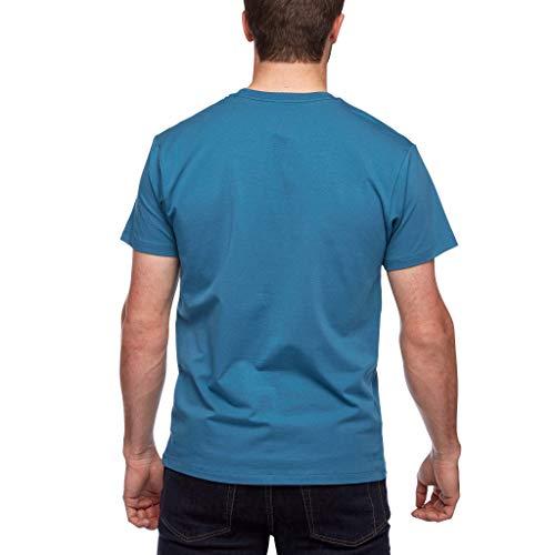 Black Diamond M SS Chalked Up Tee T-Shirt pour Homme S Bleu (Astral Blue)