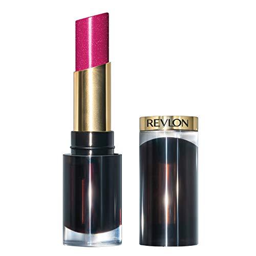 Revlon Super Lustrous Glass Shine Lipstick, Flawless Moisturizing Lip Color with Aloe, Hyaluronic Acid and Rose Quartz, Cherries in the Snow (004), 0.15 oz