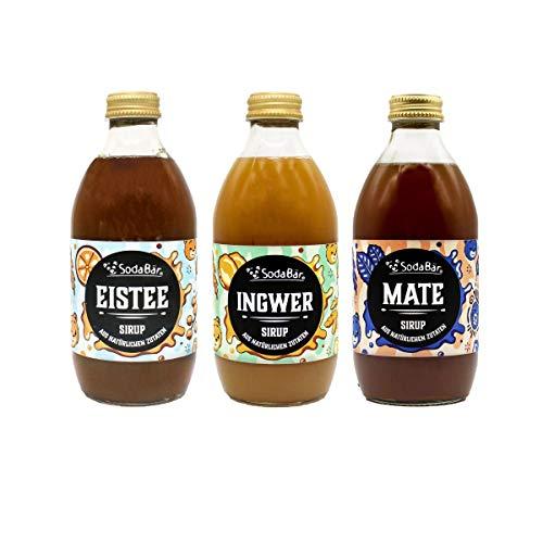 Der Getränke-Sirup mit natürlichen Zutaten - Probierset - Ingwer, Mate, Eistee