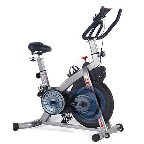 ISE Profi Indoor Cycle Ergometer Heimtrainer mit Pulsmesser,Armauflage,gepolsterte,10 kg Schwungrad Fitnessbike SY-7020