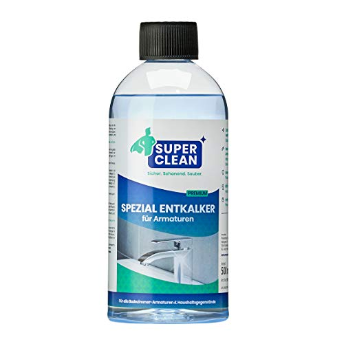 Spezial Flüssig Entkalker Konzentrat für Armaturen, Perlatoren, Wasserkocher, Duschköpfe, Dusche, Toilette und Waschbecken. Universell einsetzbarer Kalklöser im gesamten Haushalt