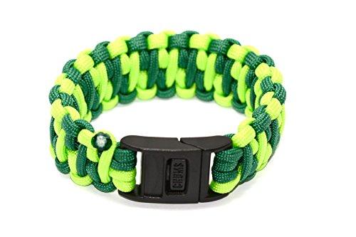 Chums Hundespielzeug Wasatch Paracord Survival Armband–Grün